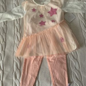 Rosie Pope Pink Glitter Star Dress & Leggings Set